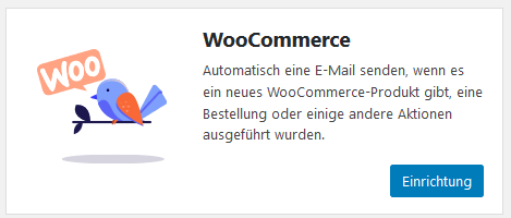 WooCommerce beim WordPress Plugin MailPoet
