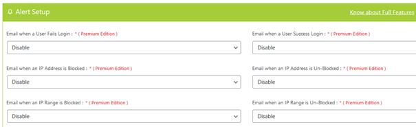 General Settings beim WordPress Plugin Captcha Booster