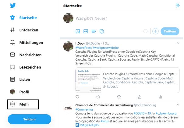 Die Startseite des Twitter Accounts von ItDoor